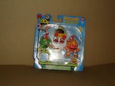 PAC-MAN & THE GHOSTLY ADVENTURES 3 MINI ACTION FIGURES BY BANDAI ASST# 38975