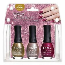 Orly Color Blast Nail Color Set - Magenta Gloss, Rose 3D & Golden Chrome Foil