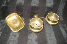 Early Wall Mount Soap Dish and Double Cup holder - Brass Plated