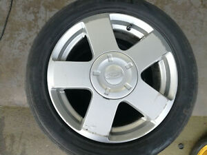 FORD FIESTA 15 INCH ALLOY WHEEL WITH TYRE SPARE OR REPLACE 933
