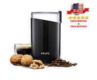 KRUPS F203 Best Electric Spice and Coffee Grinder 200W w/ Stainless Blades New