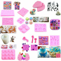 DIY 3D Silicone Mold Fondant Chocolate Maker Sugarcraft Mould Cake Decor Baking