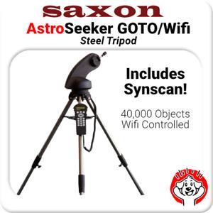 Saxon Astroseeker Mount w/ Steel Tripod - WiFi Enabled,Hand Controller, Synscan