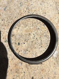 """Brass Carbide Headlight Bezel Rim 7"""" Lucas P&H Acetylene Dietz Saxon"""