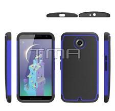 Fits Motorola Google Nexus 6 Case Hybrid Impact Shockproof Rugged Cover - Blue