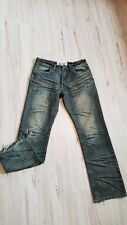 FUSAI focus USA jean sz 34 AS IS men eagle embroidered whiskering distressed