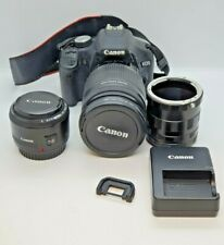 Canon EOS 500D Digital SLR Custom Bundle - 18-200mm Lens, 3X Adapters & More