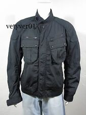 Polo RALPH LAUREN Wax Coated Tech Military/Moto/Biker/Bomber Jacket Black sz XXL