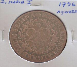 Portugal - D. Maria I - 20 Réis - 1796 Açores - VF