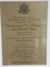 Official Bush Cheney 2001 US Presidential Inauguration Invitation Framed Picture