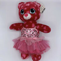 """Build a Bear Teddy Bear 17"""" Red Pink Hearts Valentine Day 2015 Plush"""