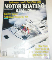 Motor Boating & Sailing Magazine Buyer's Guide & 84th Year November 1991 072914R