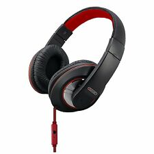 Sentry Industries HM964 Deep Bass Stereo Headphones with Mic, Red