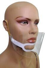 Transparente Mascarilla Facial Boca Escudos Protecctor de Cara Plástico