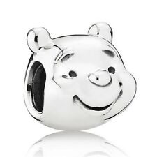 Winnie The Pooh Sterling Silver S925 Charm With Pink Gift Pouch