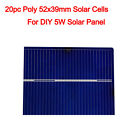 2x6 3x6 6x6 Solar Cell Cells PV Poly Mono Powerful for DIY 12V Solar Panel