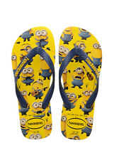 16a345641 HAVAIANAS Men s Minions Yellow Navy Blue Sandals Flip-Flop Size 11 12M NEW