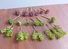 Set of 19 Artificial Miniature Grass Succulents Plants Fairy Garden Decoration