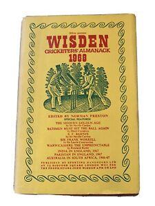 Wisden Cricketers' Almanack 1968 Hardback Edition With Dust Jacket.