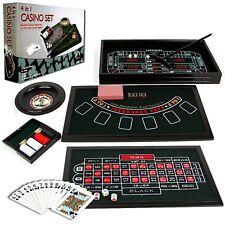 Trademark Poker 4-in-1 Casino Game Table Roulette, Craps, Poker, Blackjack New