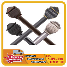 """Window Curtain Rods with screws brackets wall anchor Sizes 5/8"""" 48-86"""" / 28-48"""""""