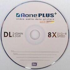 AONE DOPPIO STRATO MARCHIO non stampabile (8x) Gold Edition DVD + R DL 10 Dischi