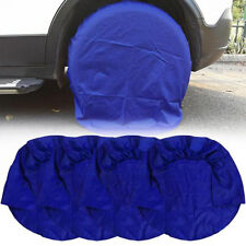 "4pcs Wheel Tire Covers for RV Truck Car Auto Camper Trailer 32"" Diameter - Blue"