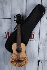 Luna UKE BBASS TAT Bari-Bass Tattoo Spruce Acoustic Electric Ukulele w Gig Bag
