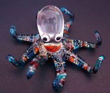 Curio Glass OCTOPUS SQUID Sparkle Glitter Ornament Delicate Decorative Gift