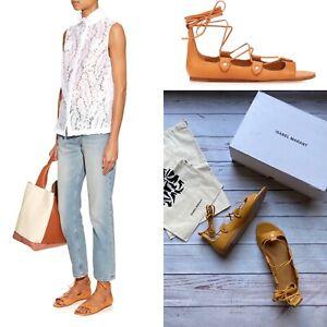 £360 Genuine Isabel Marant Leather Sandals, Alisa Leather Gladiators, 3 UK 36 EU