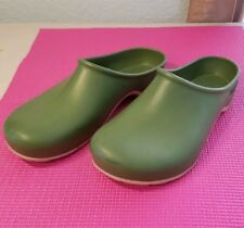 Sloggers 8 rubber slip on clog mule green yard garden shoes  - Made in the USA