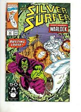 Silver Surfer #47 WARLOCK vs DRAX BATTLE ISS! THANOS INFINITY GAUNTLET 1 NM+ 9.6