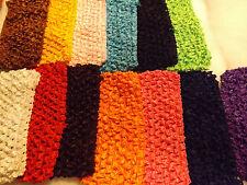 Wholesale 14pcs Girls Baby Crochet Headband With 6 inch Acrylic