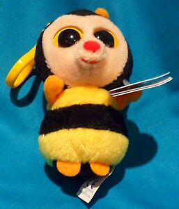 TY BEANIE BOOS - STING the BEE  KEY CLIP - MINT with MINT TAGS