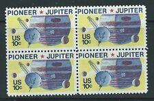 USA - MNH Block of 4  Space Stamps - 1975 - Pioneer Jupiter