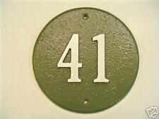 7 Inch Round Custom Cast Aluminum House number Plaque