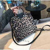 Fashion Leopard Print Large Handbags Ladies Causal Tote Shoulder Purse Luxury