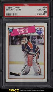 1988 Topps Hockey Grant Fuhr #59 PSA 10 GEM MINT