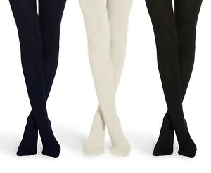 Jefferies Womens Nylon Tights Rib Pattern Opaque Dress Footed Stockings 1 Pack