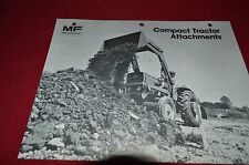 Massey Ferguson Compact Tractor Attachments Dealer's Brochure DCPA
