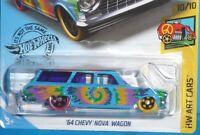 2019 HOT WHEELS '64 Chevy Nova Station Wagon #188/250 HW ART CARS 10/10 1964