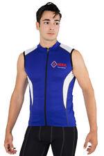 Maglie da ciclismo blu di maglia per uomo