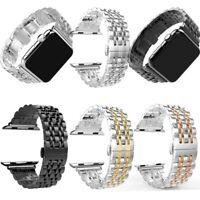Stainless Steel Wrist Watch Band Strap Apple Watch Series SE 6 5 4 3 2 1 40 44mm