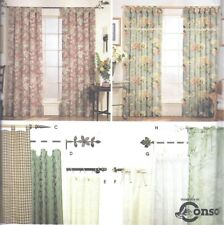 Simplicity Drapes Curtain Panels Sewing Pattern UNCUT Panel Curtains Tab Top