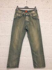 Hugo Boss Straight Leg Jeans - Blue Bleached Distressed Vintage - W 32 L 32
