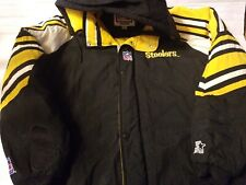 NFL Pittsburgh Steelers Jacket Adult XL Pro Line Starter Vintage Zip Snaps