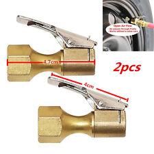 Heavy Duty Golden Brass Clip-on Female 1/4'' NPT Tyre Wheels Inflater Air Chuck
