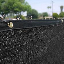 6' x 50' Black Fence Windscreen Privacy Screen Shade Cover Fabric Mesh Garden