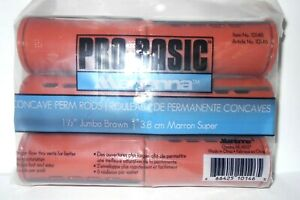 """MARIANNA Pro Basic Concave Perm RODS 1 1/2"""" Jumbo Brown~ 6 CT PK~ Lot of 3 Packs"""