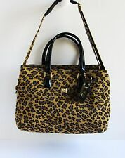 DIANE VON FURSTENBERG Madagascar Collection Leopard Print Canvas XL 2-Way Bag